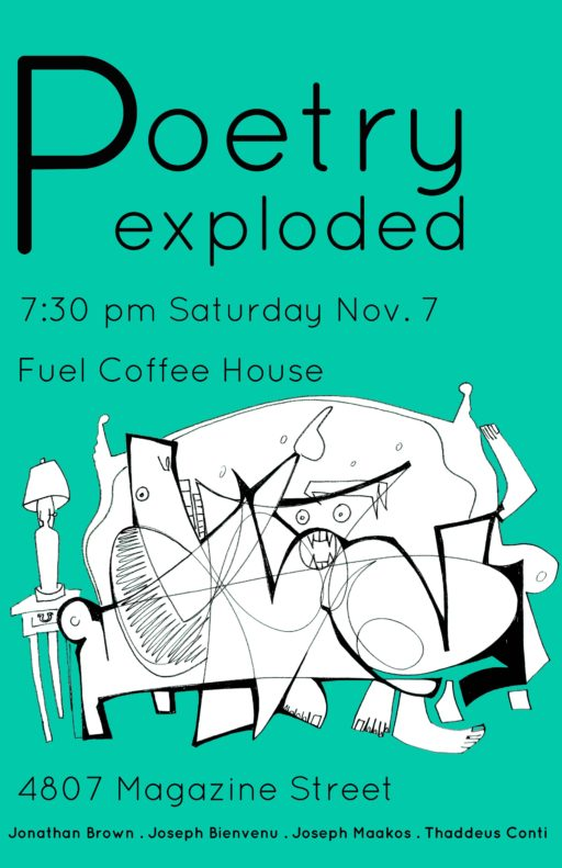 Fuel Coffee House Poetry Poster