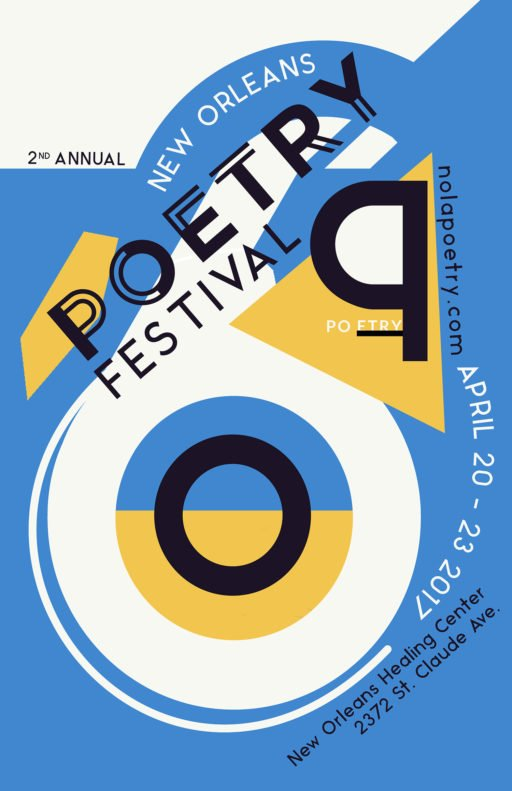 New Orleans Poetry Festival Poster 2017